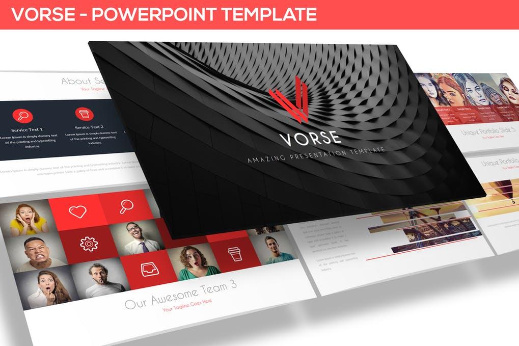Vorse-PowerPoint模板插图