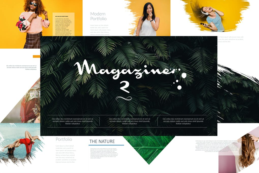 杂志2 Powerpoint模板插图