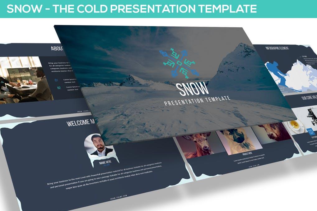 SNOW POWERPOINT演示模板-云典网