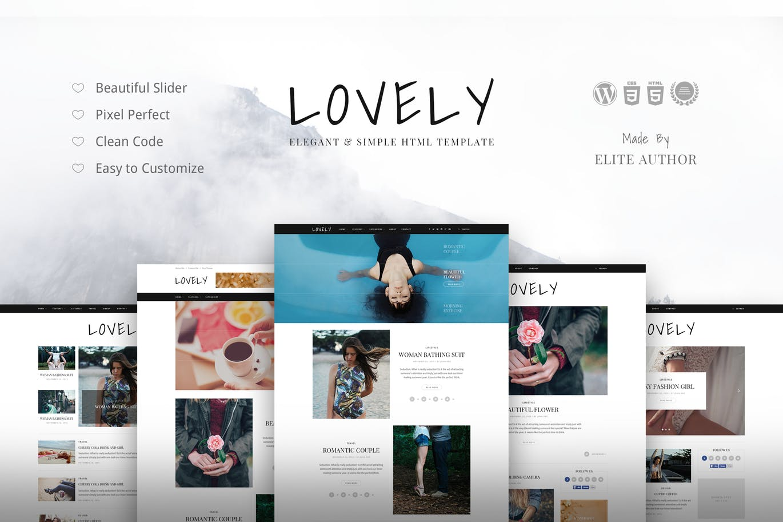 Lovely-优雅和简单的博客主题-云典网