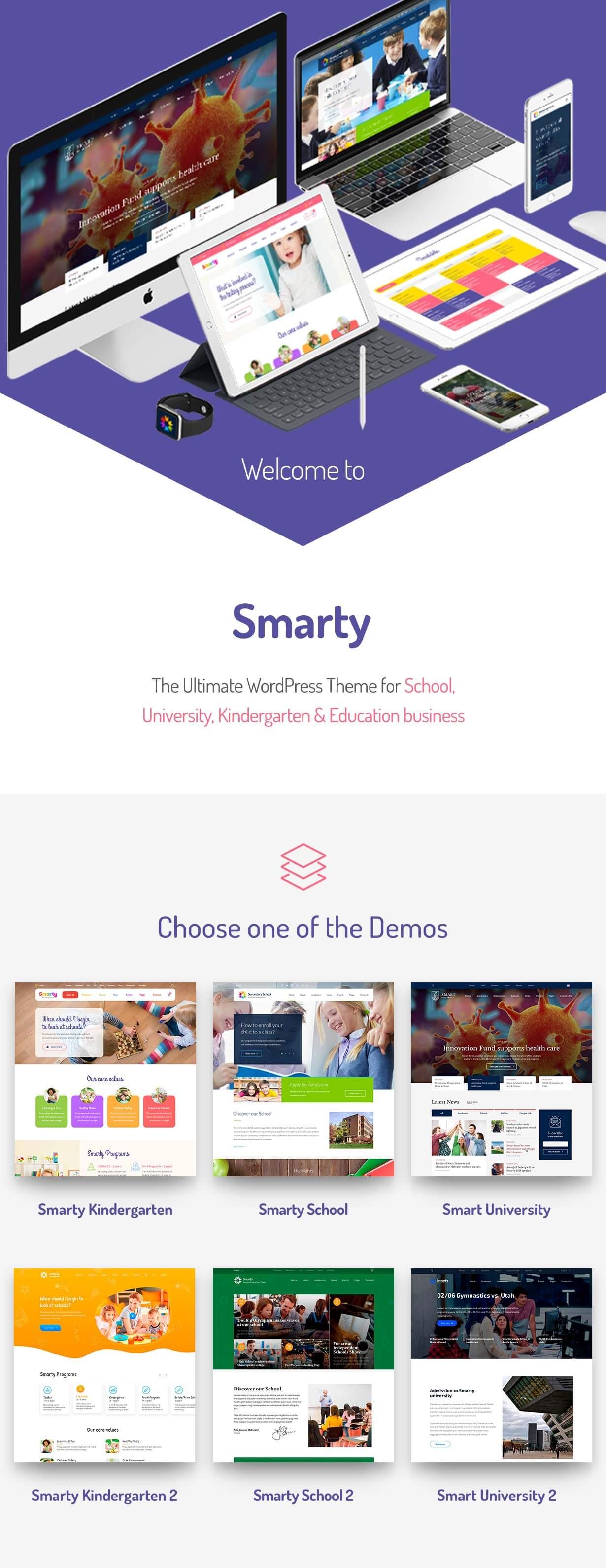Smarty-学校幼儿园网站模板WordPress主题-云典网