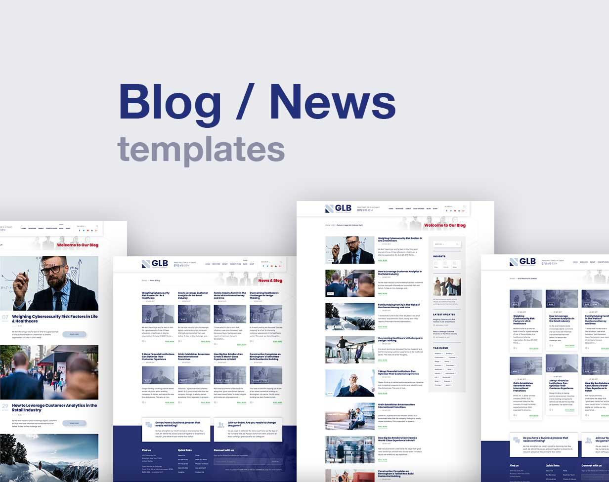 Glb – 多行业通用的企业网站模板 公司形象展示wordpress主题-云典网