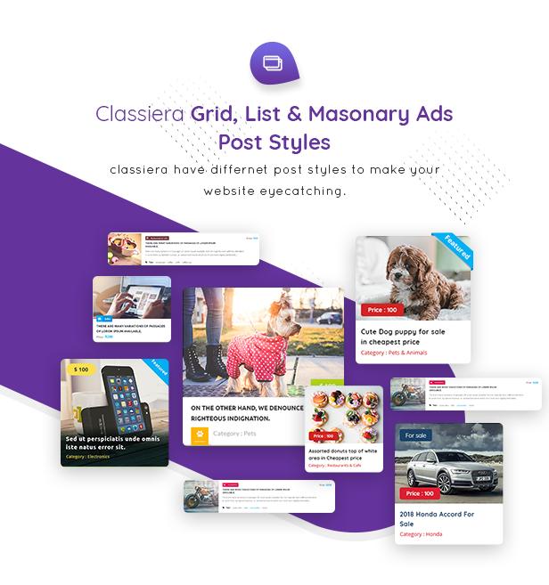 Classiera v4.0.111 – 分类广告WordPress主题  分类导航响应式网站模板-云典网