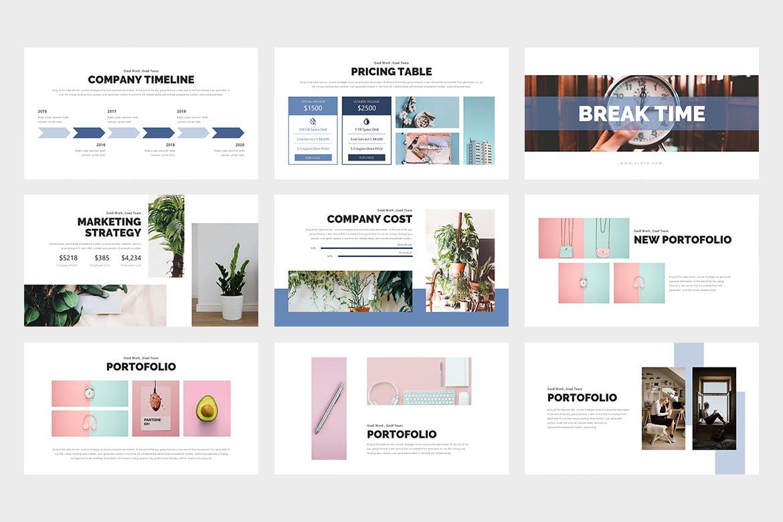 Flato:创意业务PowerPoint模板插图1