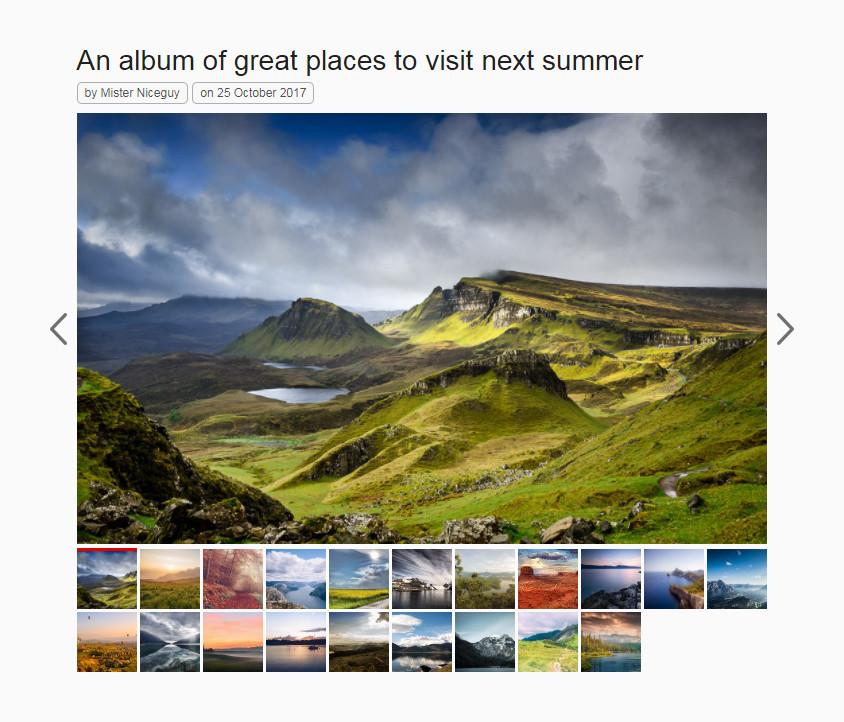 Nice Gallery for WordPress 一款非常实用的用于带缩略图展示产品的画廊插件-云典网